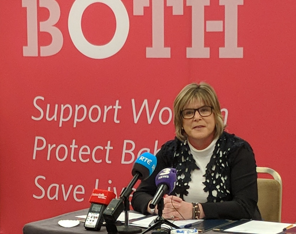 Mary Butler TD. LoveBoth challenges Minister Harris debate abortion